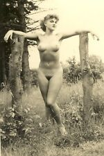 f 39 # Photo Agfa ca 1960 Pin up girl erotic Erotik Busen busty nude nude nu Akt