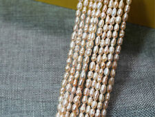 "100% Natural 5-6mm Freshwater Pearl Jewelry Loose Gemstone Beads 14"" champagne"