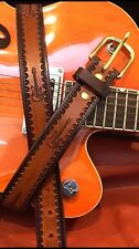 Amazing Belt Hand Tooled Electric Guitar Dad Birthday Holidays Custom USA