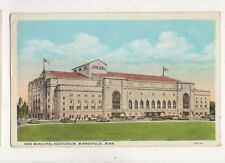 New Municipal Auditorium Minneapolis USA Vintage Postcard 937a