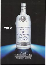 1991 magazine ad Seagram's Seven Crown  / TANQUERAY STERLING VODKA