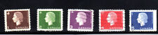 CANADA #401-405   QUEEN ELIZABETH II  CAREO ISSUE  SET OF 5  USED   c