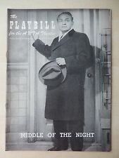 May 28th, 1956 - ANTA  Playbill - The Middle Of The Night - Edward G. Robinson