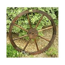 Wooden Wagon Wheel Trellis Rustic Distressed Western Garden Yard  Planter Decor