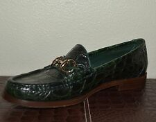 NIB GUCCI $3020 WOMENS CAIMAN ALLIGATOR HORSEBIT LOAFERS SHOES EU 38 US 8