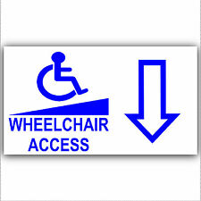 Wheelchair Access Entrance Sticker-Sign-Disabled,Disability,Mobility- Back Arrow