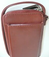 Hobo International Rea Wallet Wristlet Clutch Brown Leather Photo Holder NWT