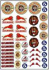 1/64, 1/87 - DECALS FOR HOT WHEELS, MATCHBOX, SLOT CAR: GILMORE VINTAGE RACE