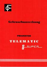 TELEMATIC Projektor Super 8 - Gebrauchsanweisung B1853