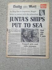 Daily Mail newspaper 16th April 1982 Falklands War