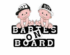 stickers vinyl  car ,windows   baby on board , for twins 5 x 5