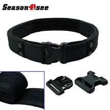 "SWAT 2"" Inch Tactical Combat Train Police Duty Military Army Belt Black"
