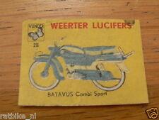 B28 WEERTER LUCIFERS,MATCHBOX LABELS BATAVUS COMBI SPORT BROMFIETS,MOPED