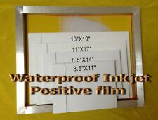 "Waterproof Inkjet Transparency Film For Screen Printing8.5"" x 11""-100Sheets 4mil"