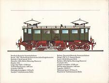VINTAGE GERMAN TRAIN ENGINES PRINT ~ PREUSSISCHE-HESSISCHE STAATSEISENBAHNEN