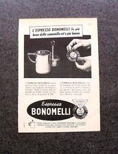 L696- Advertising Pubblicità -1960- ESPRESSO BONOMELLI