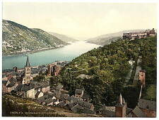 Bacharach And Ruins Of Stahleck Ii The Rhine A4 Photo Print