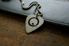 Hand Made Etched Nickel Silver Guitar Pick w/ Queens of the Stone Age QOTSA