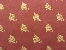 Mariposa by Lonni Rossi Pattern 5024 Gold Motif on Rust Background