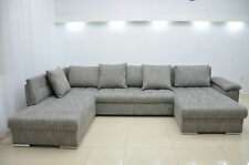 FAST DELIVERY! DOUBLE CORNER SOFA BED ERIC, LARGE  BEDDING PLACE,WOVEN FABRIC!