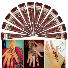 Brown Natural Herbal Henna Cones Temporary Tattoo Kit Body Art Paint Mehandi Ink