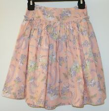 Brand New Garnet Hill Floral Skirt ~ Girl's Sz 4 Year