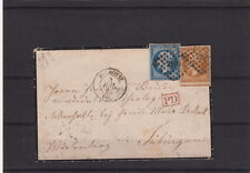 Lettre France n°13&14 Mulhouse pour la Wurtemberg 1862 Brief Cover