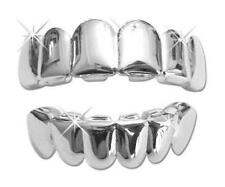 Halloween Costume Accessory Suicide Squad Joker Silver Teeth Grills Grillz NEW