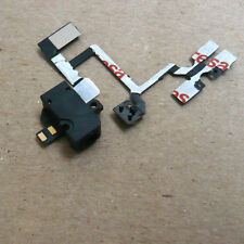 Black Headphone Audio Jack Volume Flex Cable Replacement Parts For iPhone 4 4G