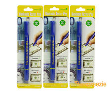 (3 Pack) Counterfeit Pen Money Detector Marker Fake Dollar Bill Currency Checker