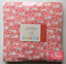 "Moda Layer Cake 42 x 10"" 100% Cotton Flannel Fabric Squares in Sweet Baby Design"