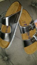 Brand New Silver Birkenstock Slipper Shoes 36 Barney's  Sold Out
