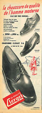 PUBLICITE ADVERTISING 045  1953 CLERGET  chaussures homme