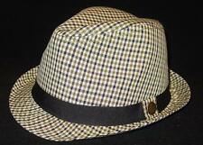 New Licensed Goorin Brothers Checked Cruising Fedora Size M MSP $59. BA