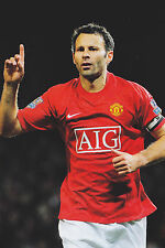 Football Photo RYAN GIGGS Man Utd 2007-08