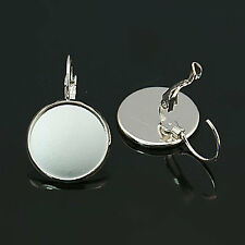 10 x Earring Nickel Free Silver to fit 16mm Cabochon Lever Back Drop Earrings
