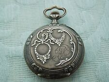 "Antique French, Fancy Cased Silver pocket watch, ""HP"" under balance?"