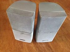 2 Original Bose Double Cube Speakers Set Silver In Color Bose Sound