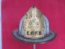 Vintage CHIEF Cairns & Brothers Leather Fire Helmet East Orange New Jersey NJ FD