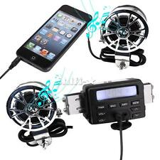 Motorcycle Scooter ATV Sound System FM Radio MP3 iPod Stereo Amplifier Speaker
