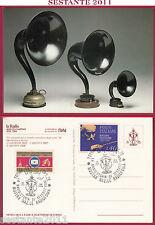 ITALIA MAXIMUM MAXI CARD RADIO STORIA 60 ANNI RAI ALTOPARLANTI GRAWOR 1984 C383