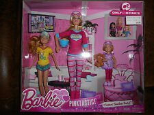 Barbie Pinktastic Sister Slumber Party Dolls Set of 3 Stacy Chelsea NEW