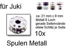 Spulen für JUKI Nähmaschinen, Metall, 8 Loch 10 Stück !!