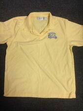 Christopher & Banks Size Medium Golf Shirt Yellow Blue Golf Cart
