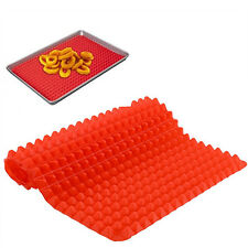 Red Pyramid Pan Silicone Baking Mat Mould Cooking Mat Oven Baking Tray Showy
