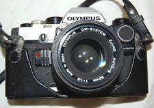 Olympus OM10 Camera & 50mm lens & 80mm Marexar zoom & bag & flash Br /F3