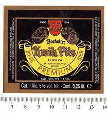 Beer Label - Martens Brewery- Belgium - Bocholter Kwik Pils