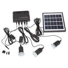 Outdoor 4W Solar Powered Led Lighting Bulb System Solar Panel Home System Kit US