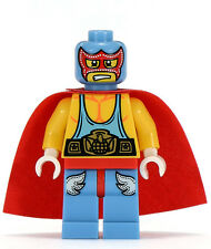 *NEW* Lego Wrestler Series 1 Rare Mini Figure w Red Cape Base plate x 1