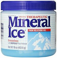 3 Pack - Mineral Ice Topical Analgesic Pain Reliving Gel 16Oz Each
